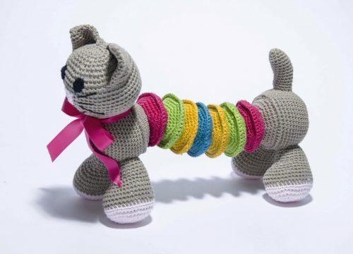 Nouveau doudou : le chat articulé au crochet