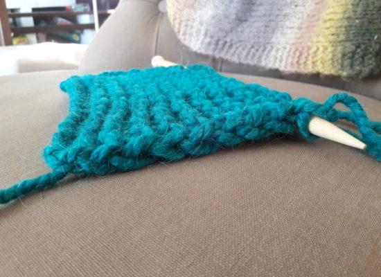 Petite astuce pour faire une jolie bordure au tricot