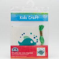 Kit point de croix imprimé pour enfants