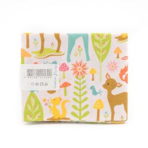 Coupon de tissu petits animaux de la forêt «Paritys» 45X55 cm