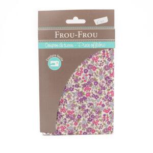 Coupon de tissu lilas «frou-frou» 45X55 cm