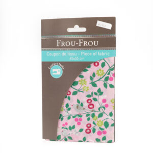 Coupon de tissu petits oiseaux «frou-frou» 45X55 cm