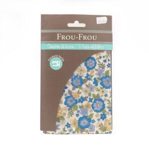 Coupon de tissu bleu ciel «frou-frou» 45X55 cm